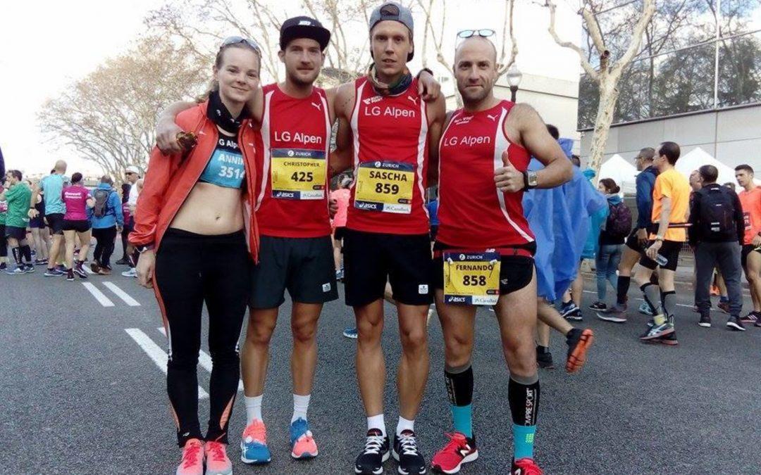 Beim Marathon in Barcelona