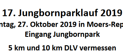 Jungbornparklauf Moers-Repelen 27. Oktober